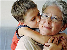 Boy with grandmother - file pic