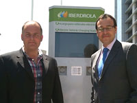 Peter Curran with Mr. Agustín Delgado, Innovation Director of Iberdrola. Photo: Rose Delarrabeiti.