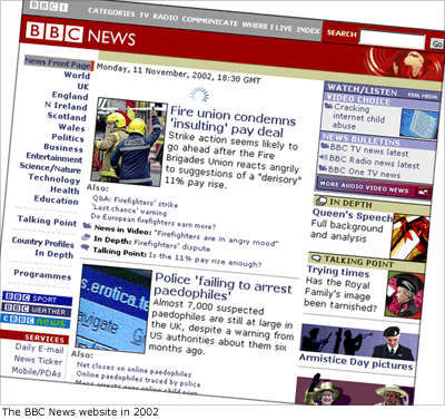BBC News website in 2002