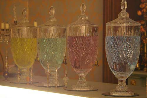 Victorian looking glass dispensers