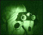 child with night vision goggles