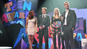 Winners - The Inbetweeners cast collect the Best TV Show Teen Award