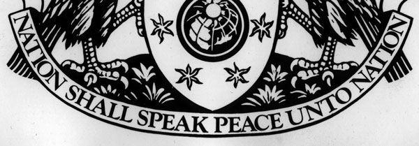 The BBC's motto: nation shall speak peace unto nation