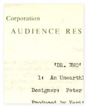 An audience research report on 'An Unearthly Child'.