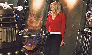 Rose (Billie Piper) and one of the Daleks