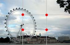 Image 2 shows the London eye positioned slightly to the left of the photograph