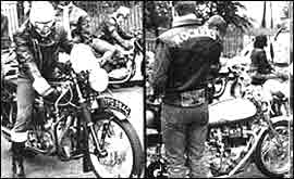 Rockers and their motorbikes.