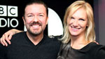 Ricky Gervais and Jo Whiley