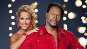 Audley Harrison and Natalie Lowe
