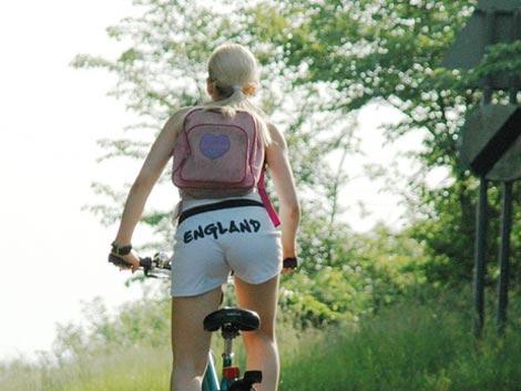 White girl rides bbc