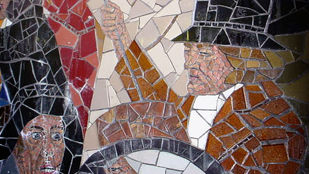 Bbc wales history themes chartism in wales for Chartist mural newport