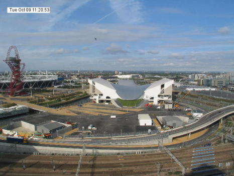 Webcam Image: London 2012 Aquatics Centre