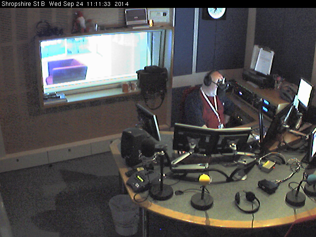 BBC Radio Shropshire studio webcam