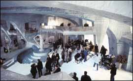 The ice palace set from Die Another Day