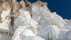 Banco de nieve en el lago Baikal. Foto Andrey Nekrasov