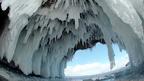 Formaciones de hielo en el lago Baikal Foto Andrey Nekrasov