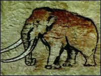 Pintura de um mamute
