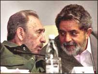 Fidel Castro e Luiz Inácio Lula da Silva