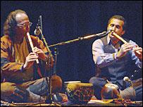 جمال محمدی و حسين حميدی نوازندگان سازهای بادی