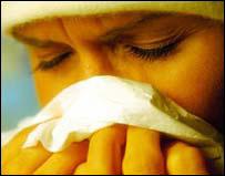 Pessoa com febre do feno