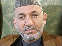 حامد کرزی رييس جمهور افغانستان