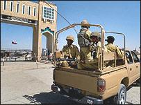 نظاميان پاکستان در نزديکی مرز افغانستان