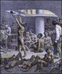 Rugendas retratou o sofrimento dos negros em Nègres à Fond de Cale - Cortesia da New York Public Library
