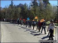 پناهجویان معترض افغان در نروژ