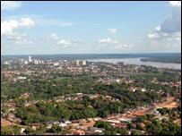 Vista aérea da capital de Rondônia, às margens do Rio Madeira Foto: Wilson Dias/ABr