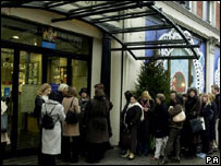 Bargain hunters queue up for the sales