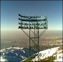 برج نور در کوه های کلکچال - عکس از حامد میرزاخلیل