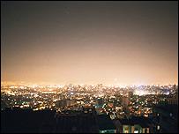 آلودگی نوری شب تهران، عکس از حامد میرزا خلیل