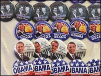 Memorabilia pendukung Obama