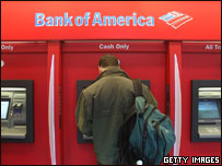 Bank of America cash machines