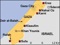 Peta Gaza