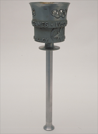 Photo: The torch design for the 1960 Winter Olympic Games