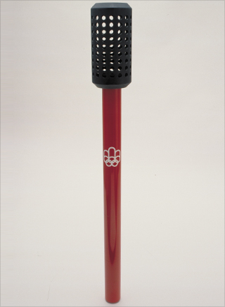Photo: The torch design for the 1976 Summer Olympic Games