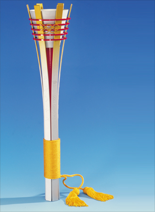 Photo: The torch design for the 1998 Winter Games