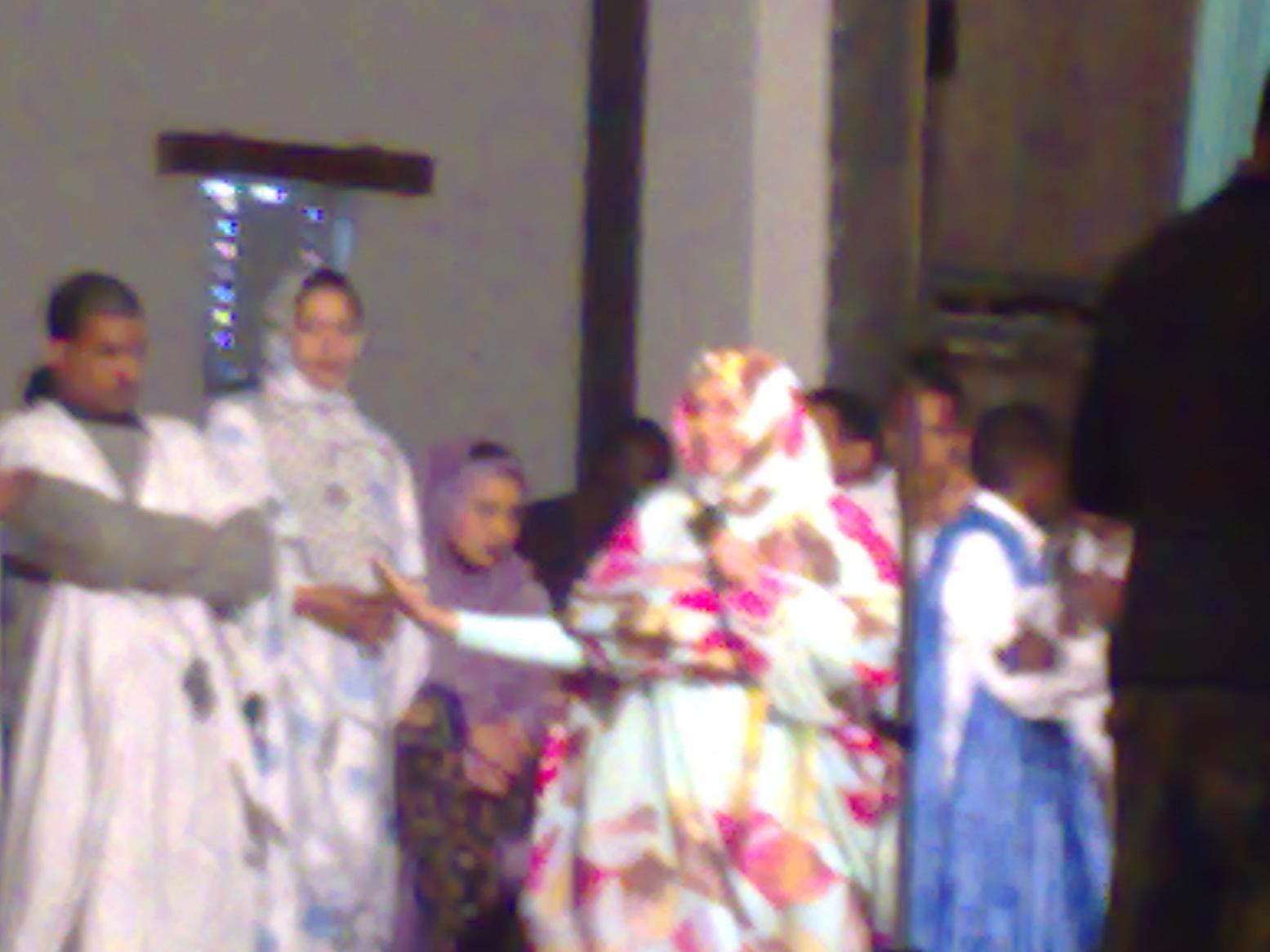 images of Mauritanian Diva And Senator Malouma Wearing Malaffah
