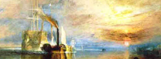 The Fighting Temeraire tugged to her last berth to be broken up, Turner