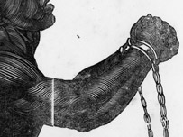A slave in shackles