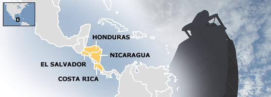 Central America and statue of General Sandino in Managua, Nicaragua
